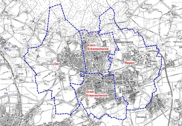 Übersichtskarte Stadt Oer-Erkenschwick