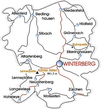 Winterberg Übersichtskarte